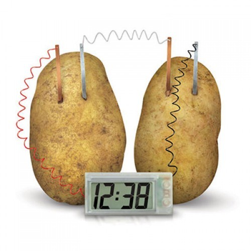 Classic potato powered clock