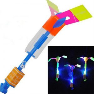 SEWS-1pcs-New-LED-Light-Helicopter-Flying-Rocket-Rubber-Band-Sling-Shot-Arrow-Toy-Drop-Shipping